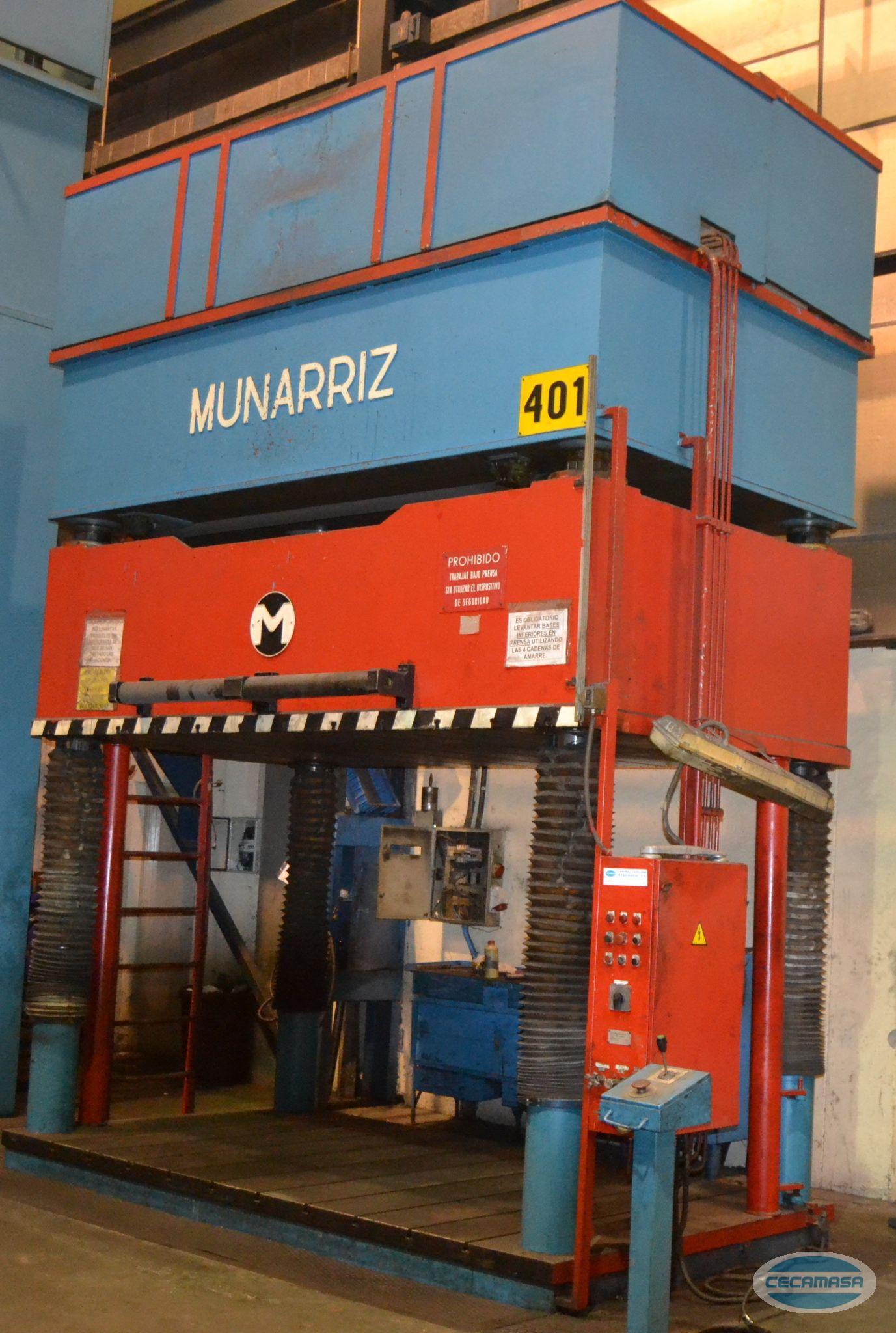 Prensa MUNARRIZ de retoque de 4 columnas y de 125 Tn